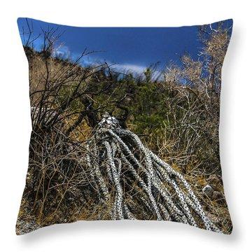 The Desert Sentinel Throw Pillow