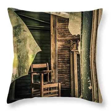 The Desk Throw Pillow by Phillip Burrow