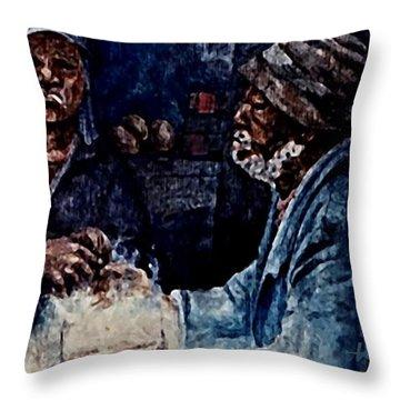 The  Desolation Of Poverty Throw Pillow