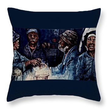 The  Desolation Of Poverty Throw Pillow