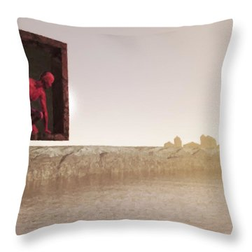 The Destroyer Cometh Throw Pillow