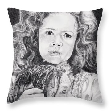 The Devil Has Come Home Throw Pillow