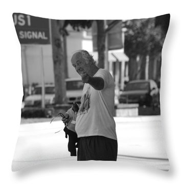 Throw Pillow featuring the photograph The Devil Man by Rob Hans