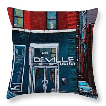 The Deville Throw Pillow