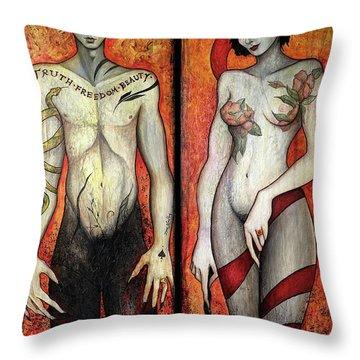The Devils Throw Pillow by Dori Hartley