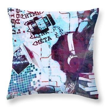 The Digital Age Throw Pillow