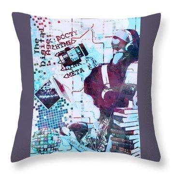 The Digital Age Throw Pillow by Vennie Kocsis