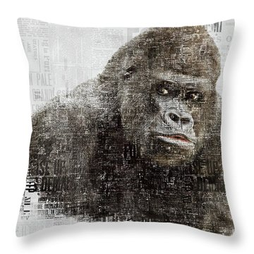 The Dignity Of A Gorilla Throw Pillow