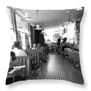 The Diner Throw Pillow by Wayne Potrafka