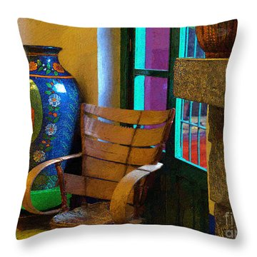 The Dining Room Corner In Frida Kahlo's House Throw Pillow