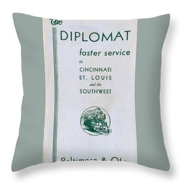 The Diplomat Throw Pillow