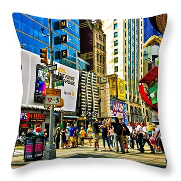 The Dirty Old City -nyc Throw Pillow