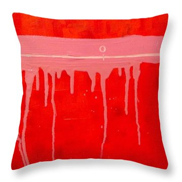 Throw Pillow featuring the painting The Distance Between Me And Myself by Ana Maria Edulescu