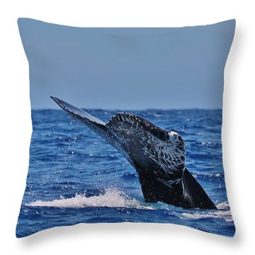 The Dive Throw Pillow by Sheila Ping