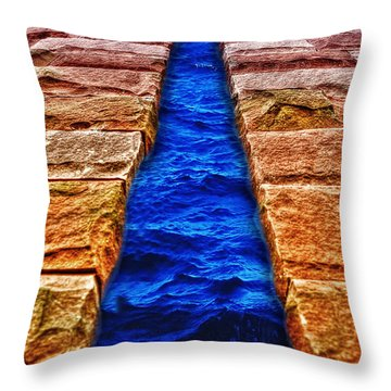 Throw Pillow featuring the photograph The Divide by Paul Wear