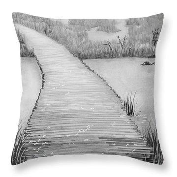 The Divine Path Throw Pillow