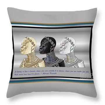 The Divine Sisters Throw Pillow