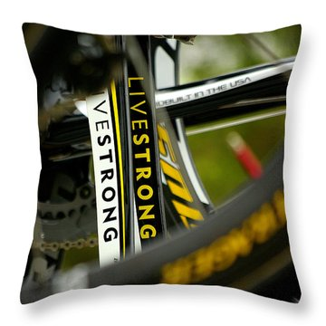 The Diving Power Throw Pillow