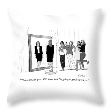 The Divorce Suit Throw Pillow