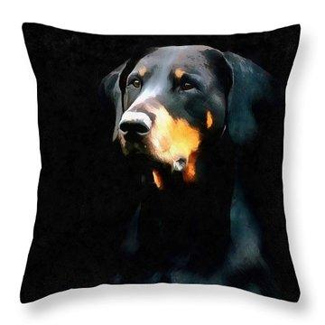 The Doberman Pinscher Throw Pillow