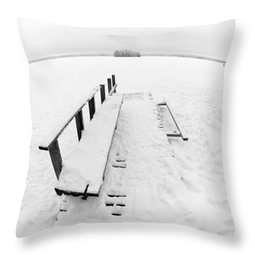 The Dock 1 Throw Pillow by Jouko Lehto
