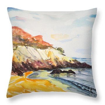 The Dock Beach Throw Pillow by Lidija Ivanek - SiLa
