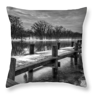 The Dock Throw Pillow by Everet Regal