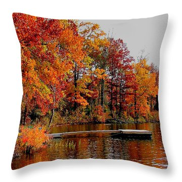 Throw Pillow featuring the photograph The Dock by Rick Friedle