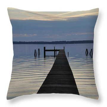 The Dock Throw Pillow by Tiffney Heaning