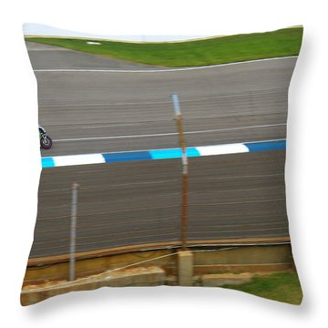 The Doctor At Indy  Valentino Rossi  Throw Pillow