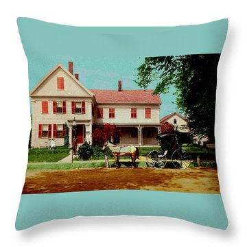 The Doctor Heads Out On A House Call Throw Pillow