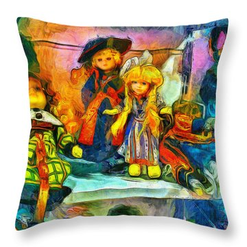The Dolls Throw Pillow
