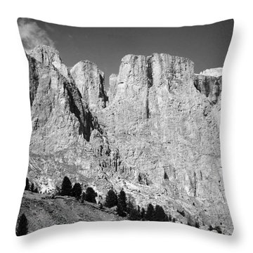 The Dolomites Throw Pillow by Juergen Weiss
