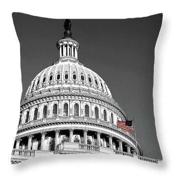 Throw Pillow featuring the photograph The Dome by John Schneider