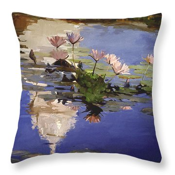The Dome - Water Lilies Throw Pillow