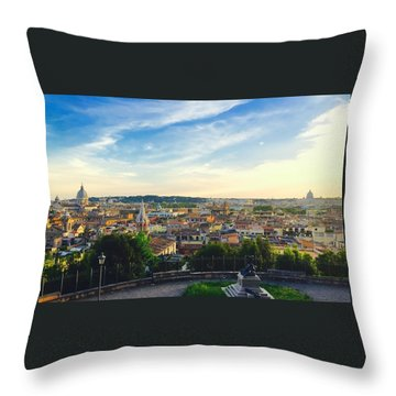 The Domes Of Rome Throw Pillow