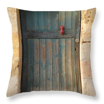 The Door And The Hand Throw Pillow by Yoel Koskas