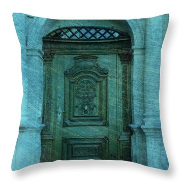 The Door To The Secret Throw Pillow by Susanne Van Hulst