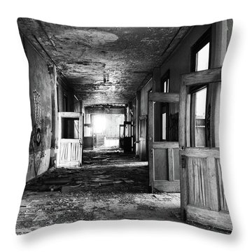 The Doors Are Open Throw Pillow