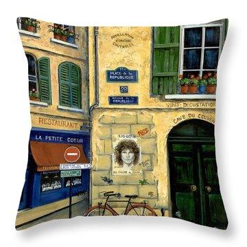 Street Scene France Throw Pillows