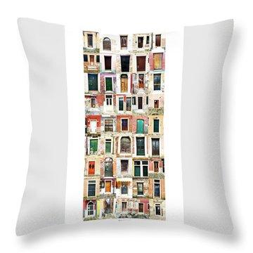 The Doors Of Murano Italy Throw Pillow