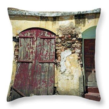 The Doors Of San Juan Throw Pillow