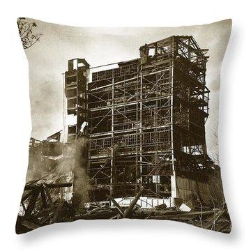 The Dorrance Breaker Wilkes Barre Pa 1983 Throw Pillow