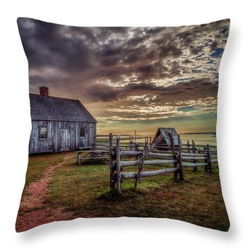 Throw Pillow featuring the photograph The Doucet House by Chris Bordeleau