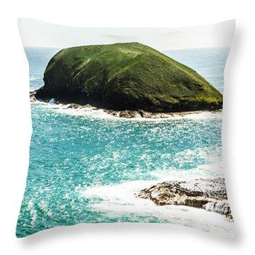 The Doughboys Island Landscape Throw Pillow