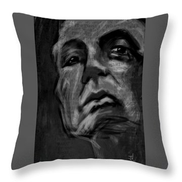 The Downward Gaze Throw Pillow by Jim Vance