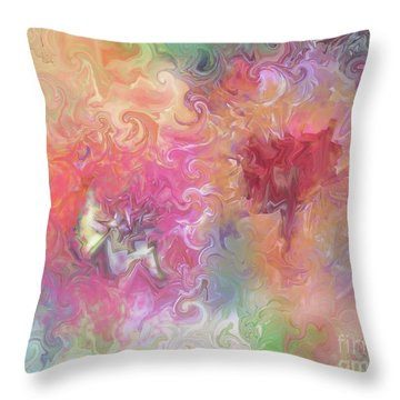 The Dragon And The Faerie Throw Pillow