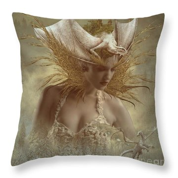 The Dragon Keeper Throw Pillow