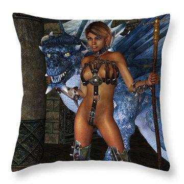 The Dragon Princess Throw Pillow by Alexander Butler
