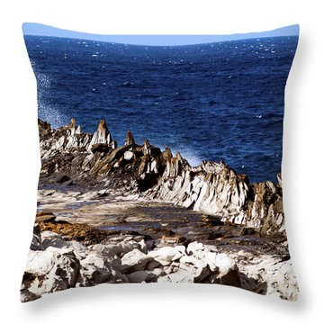 The Dragons Teeth II Throw Pillow by Patricia Griffin Brett